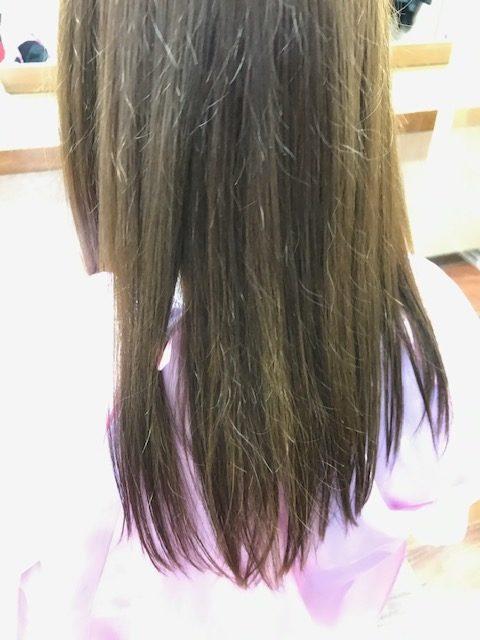縮毛矯正で傷んだ髪を修正